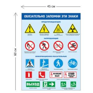 Стенд Дорожные знаки для детей 45х60 см