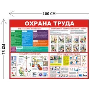 Стенд Охрана труда с инструктажами 100х75см (4 плаката)