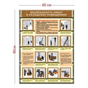 Стенд «Безопасность работ в складских помещениях» (1 плакат)