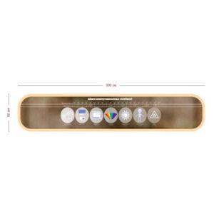 Стенд Шкала электромагнитных колебаний 300х60 см