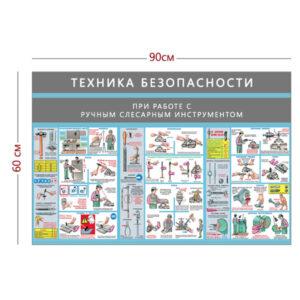 Стенд «Техника безопасности при работе с ручным слесарным инструментом» (3 плаката)