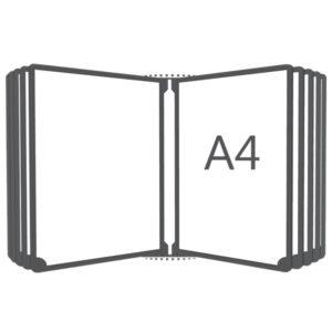 Перекидная система вертикальная настенная А4, 10 рамок