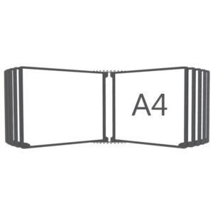 Перекидная система горизонтальная настенная А4, 10 рамок