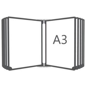 Перекидная система настенная А3, 10 рамок