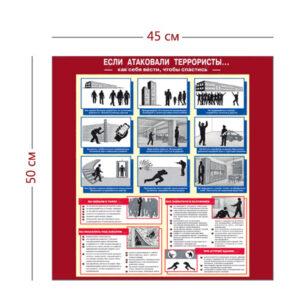 Стенд «Если атаковали террористы» (1 плакат)