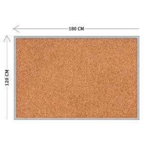 Пробковый стенд 120х180 см (пластиковая основа)