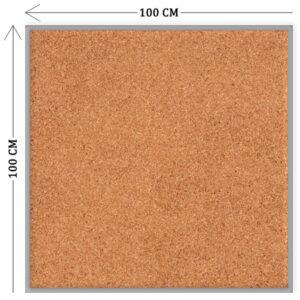 Пробковая доска для объявлений 100х100 см
