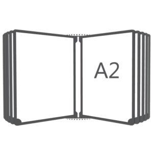 Перекидная система настенная А2, 10 рамок