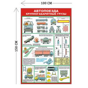 Стенд Автопоезда, крупногабаритные грузы 150х100см (8 плакатов)
