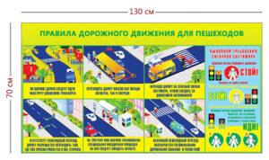 Стенд «Правила дорожного движения для пешеходов» (7 плакатов)