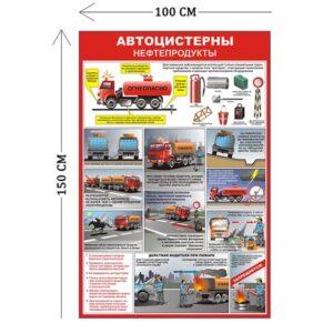 Стенд Автоцистерны 150х100см (12 плакатов)