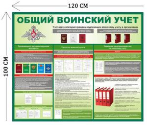 Стенд Воинский учет 100х120см (1 плакат)