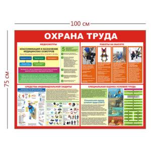 Стенд «Охрана труда при работе на высоте» (1 плакат)