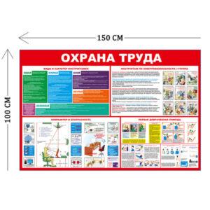 Стенд Охрана труда с инструктажами 100х150см (4 плаката)