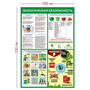 Стенд «Экологическая безопасность» большой (1 плакат)