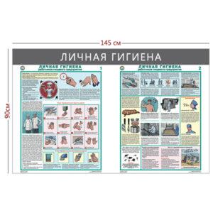 Стенд «Личная гигиена работников пищевого предприятия» (2 плаката)