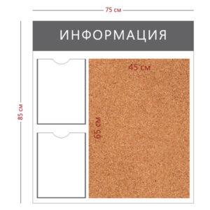 Стенд «Информация» (2 кармана А4 + пробковое полотно 65х45см)