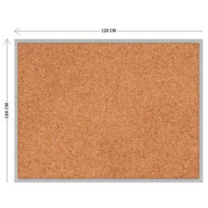 Пробковый стенд 100х120 см (пластиковая основа)