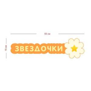 Стенд для группы Звездочки 55х15 см