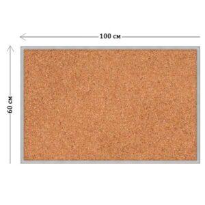 Пробковый стенд 60х100 см (пластиковая основа)