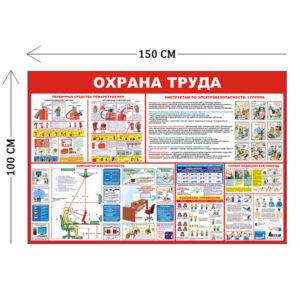 Стенд Пожарная безопасность и охрана труда 100х150см (5 плакатов)