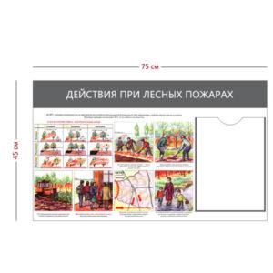 Стенд «Действия при лесных пожарах» (1 карман А4 + 1 плакат)