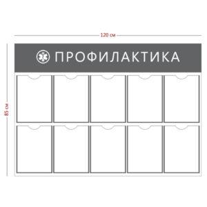 Стенд «Профилактика» (10 карманов А4)