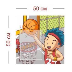 Стенд Юный баскетболист 50х50 см (1 карман А4)