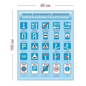 Стенд Информационно-указательные знаки дорожного движения 80х100 см