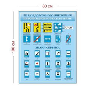 Стенд Информационно-указательные знаки для автошкол 80х100 см