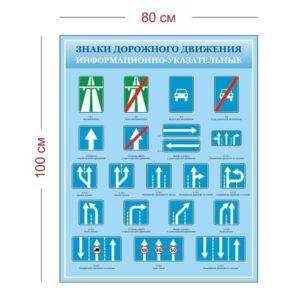 Стенд Информационно-указательные знаки движения 80х100 см